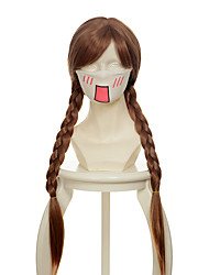 cheap -Synthetic Wig Cosplay Wig Straight Straight Braid Wig Long Brown Synthetic Hair 26 inch Women's Brown