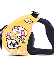 cheap -Dog Leash Adjustable / Retractable Cartoon Nylon Small Dog White Yellow