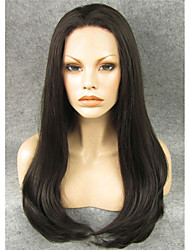 cheap -Synthetic Wig Straight Straight Lace Front Wig Chestnut Brown Synthetic Hair Women's Brown