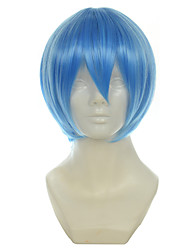 cheap -evangelion eva ayanami rei light blue short straight halloween wigs synthetic wigs costume wigs Halloween