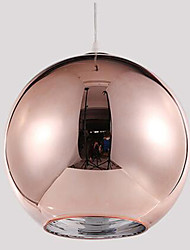 cheap -1-Light 30cm Designers Pendant Light Glass Glass Electroplated Modern Contemporary 110-120V / 220-240V