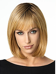 cheap -Synthetic Wig Straight Straight Bob Wig Short Medium Length Dark Blonde Synthetic Hair Women's Brown