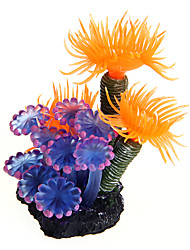 cheap -Fish Tank Aquarium Decoration Fish Fish Bowl Ornament Coral Waterplant Orange Decoration Resin Plastic