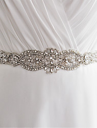 cheap -Satin Wedding / Party / Evening Sash With Rhinestone / Imitation Pearl / Beading Women's Sashes / Sequin