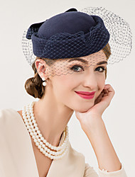 cheap -Wool / Net Kentucky Derby Hat / Fascinators / Hats with Floral 1pc Wedding / Special Occasion / Casual Headpiece