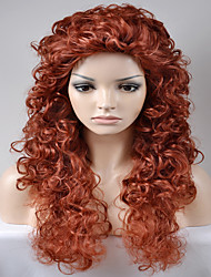 cheap -europe and the united states women party wine red kinky curly afro high temperature wire wig