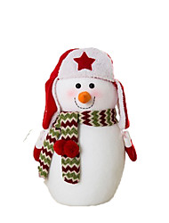 cheap -Snowman Christmas Decorations Lovely Cartoon High Quality Fashion Plush Boys' Girls' Toy Gift 3 pcs