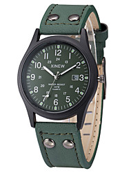 cheap -Men's Sport Watch Military Watch Wrist Watch Quartz Leather Black / Brown / Green Calendar / date / day Cool Analog Vintage Casual Fashion - Coffee Brown Green