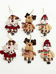 cheap -6pcs High Quality Christmas Ornaments with Small Bell