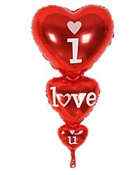 Недорогие -Воздушные шары Сердце Для вечеринок / Надувной Алюминий Мальчики / Девочки Подарок