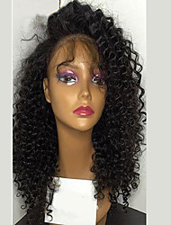 cheap -kinky curly glueless lace front wig with baby hair unprocessed brazilian virgin human hair for women
