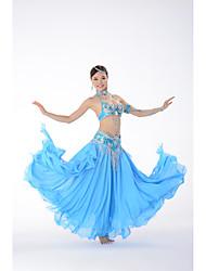 cheap -Belly Dance Bra Beading Paillette Women's Performance Sleeveless Dropped Polyester