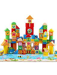 Недорогие -QZM Магнитные игрушки Конструкторы Обучающая игрушка 70 pcs совместимый Legoing Оригинальные Мультяшная тематика Мальчики Девочки Игрушки Подарок / Дерево