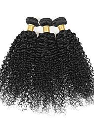 cheap -3 Bundles Brazilian Hair Kinky Curly Curly Weave Human Hair Natural Color Hair Weaves / Hair Bulk Human Hair Weaves Human Hair Extensions / 8A