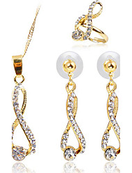 cheap -Women's Synthetic Diamond Ladies Earrings Jewelry Gold For Party Daily Casual / Rings