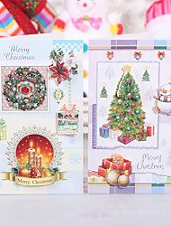 cheap -10Package Random Pattern Christmas Decoration Gifts Role Ofing Christmas Tree Ornaments Christmas Gift  Wish Card Greeting Card