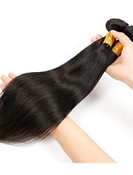 cheap -3 Bundles Hair Weaves Peruvian Hair Straight Human Hair Extensions Human Hair Natural Color Hair Weaves / Hair Bulk / 8A