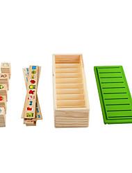 cheap -Building Blocks For Gift  Building Blocks Wood Khaki Toys