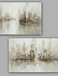 cheap -Oil Painting Hand Painted Vertical Abstract Classic Modern Stretched Canvas