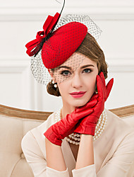 cheap -Wool / Feather / Net Fascinators / Hats with 1 Wedding / Special Occasion / Casual Headpiece