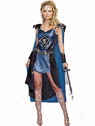 cheap -Soldier / Warrior Women's Christmas Halloween Carnival Festival / Holiday Polyester Blue Women's Carnival Costumes Print