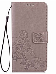 cheap -Case For Nokia Lumia 640 / Nokia / Nokia Lumia 930 Nokia Lumia 535 Wallet / Card Holder / with Stand Full Body Cases Solid Colored Hard PU Leather