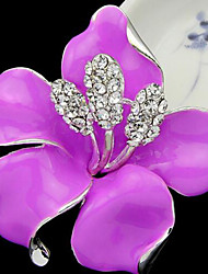 cheap -Women's Brooches Ladies Brooch Jewelry Purple Rose Red For Party Daily Casual