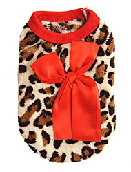 cheap -Cat Dog Sweatshirt Vest Winter Dog Clothes Red Rose Costume Polar Fleece Leopard Casual / Daily Fashion XXS XS S