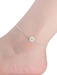 cheap -Women's Anklet Sterling Silver Ladies Fashion Anklet Jewelry For Daily