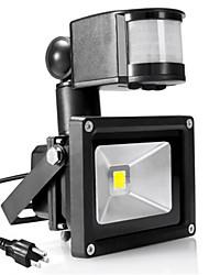 cheap -1pc 10 W LED Floodlight Infrared Sensor / Motion Detection Monitor Warm White / Cold White 85-265 V Outdoor Lighting 1 LED Beads