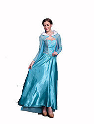 cheap -Princess Fairytale Women's Christmas Halloween Carnival Festival / Holiday Polyester Women's Carnival Costumes Solid Colored Lace