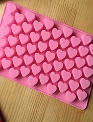 Недорогие -кухня инструменты для выпечки 55 отверстий милый стиль сердца силиконовые формы шоколада леденцы на палочке формы для выпечки сдобы Валентина подарок создатель