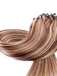 cheap -Neitsi Micro Ring Hair Extensions Human Hair Extensions Straight Human Hair Human Hair Extensions Ombre Women's Dark Blonde / Honey Blonde