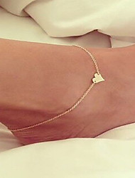 cheap -Anklet feet jewelry Dainty Ladies Simple Women's Body Jewelry For Wedding Alloy Love Golden Silver