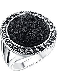 cheap -Women's Ring thumb ring AAA Cubic Zirconia Black Alloy Bohemian Wedding Engagement Jewelry