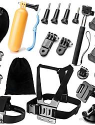 Недорогие -Ремни на голову Противотуманные вставки Клемма Водонепроницаемый Регулируется Удобный 36 pcs Для Экшн камера Все Gopro 5 Xiaomi Camera Gopro 4 Gopro 4 Silver Дайвинг Серфинг Катание на лыжах
