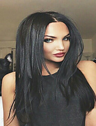 cheap -part lace front wig brazilian virgin human hair yaki straight for black women