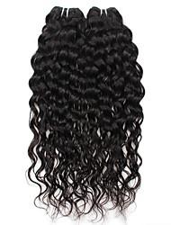 Недорогие -2 Связки Бразильские волосы Волнистые Натуральные волосы 200 g Человека ткет Волосы Ткет человеческих волос Расширения человеческих волос / 8A / Лёгкие волны