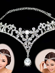 cheap -Rhinestone / Alloy Tiaras / Headbands / Headwear with Floral 1pc Wedding / Special Occasion Headpiece