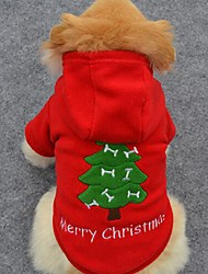 cheap -Dog Hoodie Winter Dog Clothes Costume Cotton Solid Colored Holiday Fashion Christmas XS S M L XL