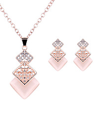 cheap -Women's Crystal Jewelry Set Ladies Luxury Fashion Elegant Imitation Diamond Earrings Jewelry Rose Gold For Wedding Party Daily Casual