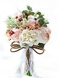 "cheap -Wedding Flowers Bouquets Wedding / Party / Evening Taffeta / Spandex / Dried Flower 9.84""(Approx.25cm)"