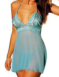 cheap -Women's Plus Size Babydoll & Slips Nightwear Solid Colored Black / Purple / Blue M XL XXL
