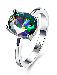 cheap -Ring Cubic Zirconia Assorted Color Zircon Cocktail Ring Ladies Fashion 6 7 8 / Women's
