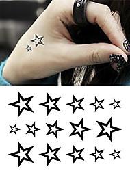 cheap -Cartoon / Tattoo Sticker Hand / Arm / Wrist Temporary Tattoos 1 pcs Animal Series Black Body Arts