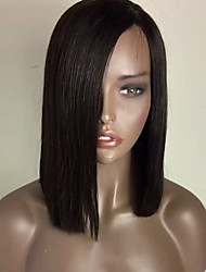 cheap -Synthetic Lace Front Wig Straight Style Bob Lace Front Wig Light Brown Black#1B Medium Brown Synthetic Hair Women's Heat Resistant Fashion Natural Hairline Natural Black Wig Medium Length