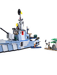 cheap -GUDI Action Figure Building Blocks Military Blocks Warship Aircraft Carrier Soldier compatible Legoing Boys' Girls' Toy Gift / Educational Toy