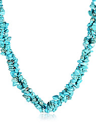 cheap -Women's Crystal Choker Necklace Vintage Bohemian Crystal Agate Blue Necklace Jewelry For Party Daily Casual