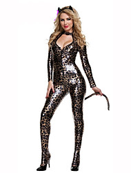 cheap -Women's Christmas Halloween Carnival Festival / Holiday Polyester Women's Carnival Costumes Print / Headwear