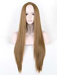 cheap -Fashion Brown Color Synthetic Wigs Ladies Women Party Straight Hair Wig Daily Wearing